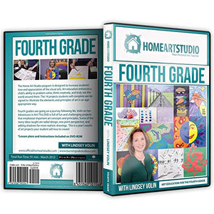 Home School Art Studio Program DVD with Lindsey Volin 4th Grade (Used) - Little Green Schoolhouse Books