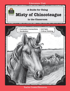 A Guide for Using Misty of Chincoteague in the Classroom (Used-Good) - Little Green Schoolhouse Books