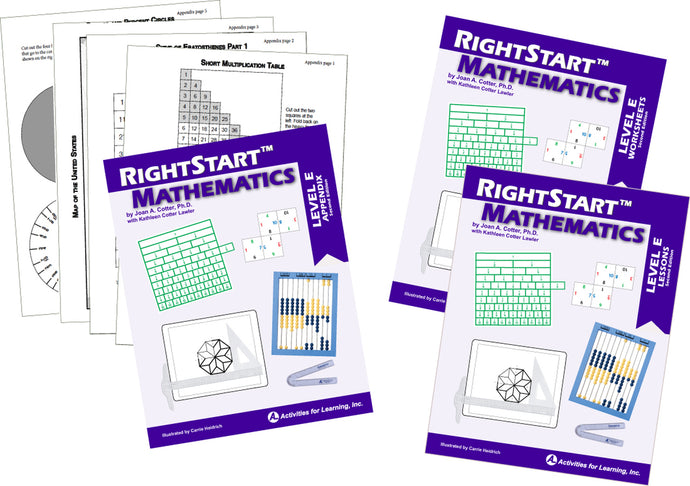 RightStart™ Mathematics Level E Second Edition Book Bundle (Used-Like New)