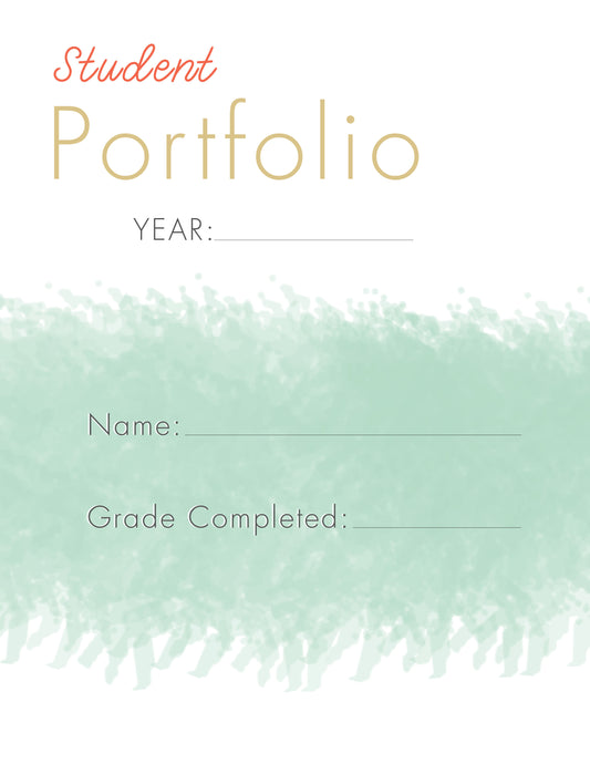 End of Year Portfolio Digital PDF Download