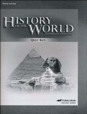 History of the World in Christian Perspective Quiz Key (Abeka - 5th Edition) (used-like new) - Little Green Schoolhouse Books