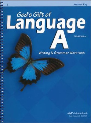 Abeka God's Gift of Language A Writing & Grammar Work-text Answer Key (used-good) - Little Green Schoolhouse Books