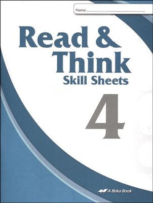 Abeka Read & Think Skill Sheets 4 (used-like new) - Little Green Schoolhouse Books