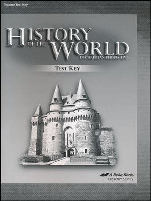 History of the World in Christian Perspective Tests Keys (Abeka - 5th Edition) (used-like new) - Little Green Schoolhouse Books