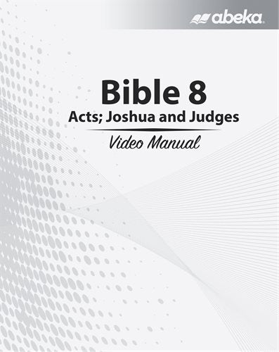 Abeka Bible 8 video manual (used-like new) - Little Green Schoolhouse Books