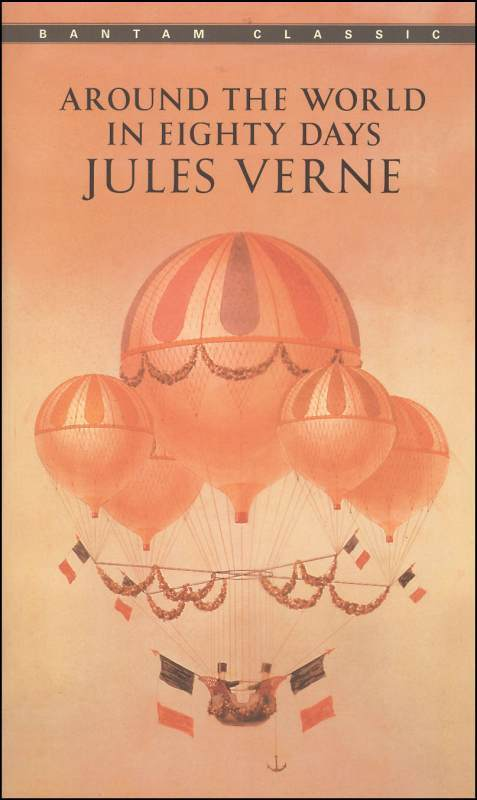 Around the World in Eighty Days by Jules Verne (Used-Worn/Acceptable) - Little Green Schoolhouse Books