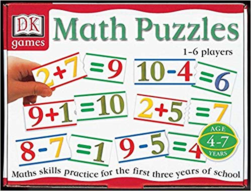 DK games- Math Puzzles (Addition and Subtraction) (used-like new) - Little Green Schoolhouse Books