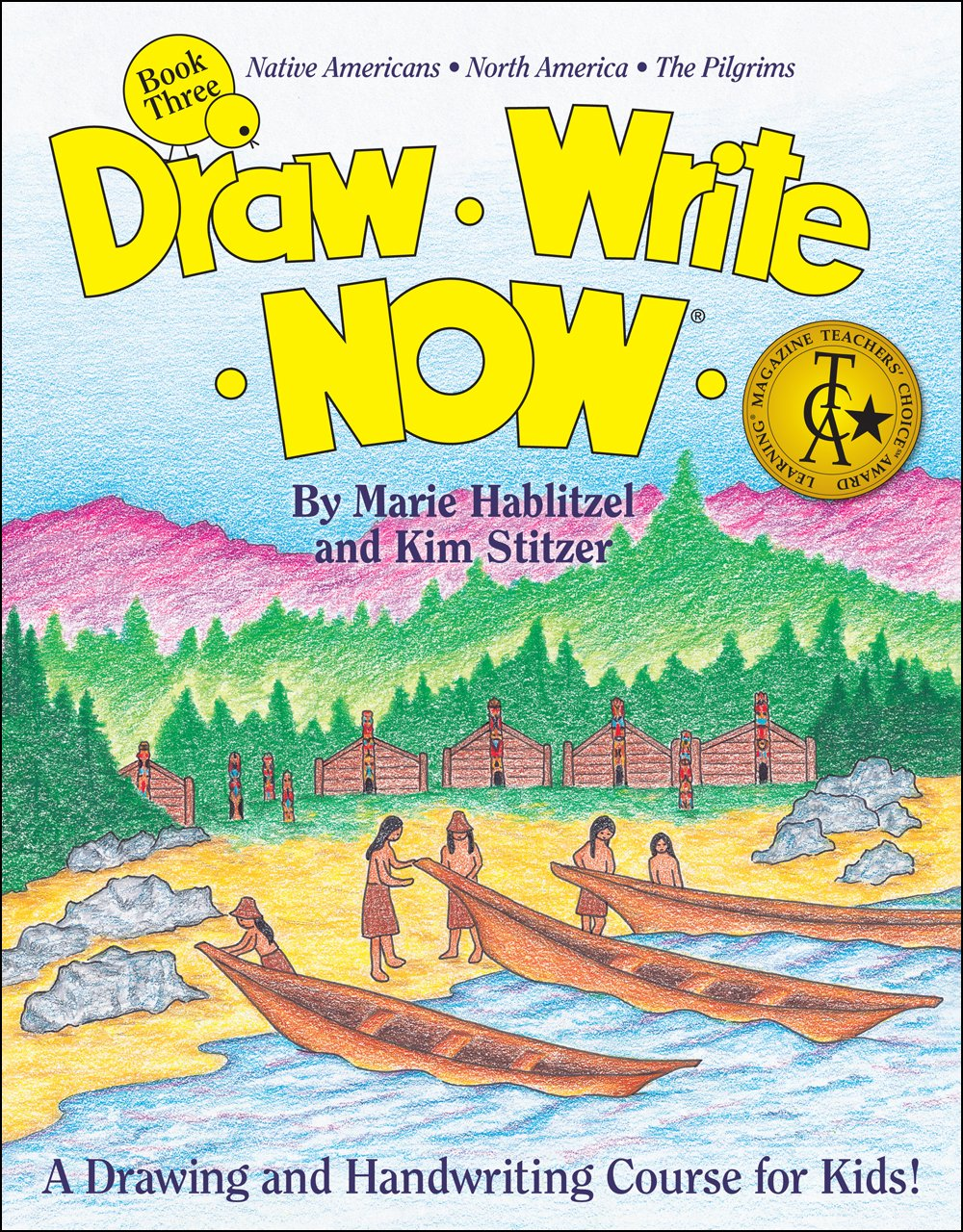 Draw Write Now Book 3: Native Americans, North America, The Pilgrims (Used-Like New) - Little Green Schoolhouse Books
