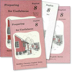 "Grade 8 English ""Preparing for Usefulness"" Set-Rod and Staff (Used-Like New) - Little Green Schoolhouse Books"