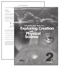 Load image into Gallery viewer, Exploring Creation with Physical Science Solutions and Tests(2nd Edition) Apologia (Used) - Little Green Schoolhouse Books