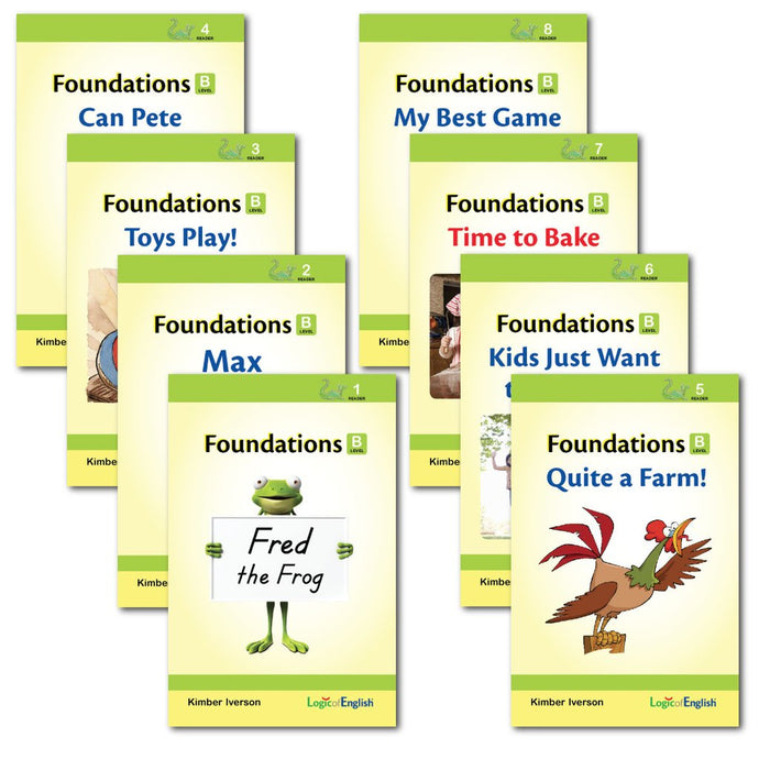 Foundations B- Readers - Logic of English (Used-Like New) - Little Green Schoolhouse Books
