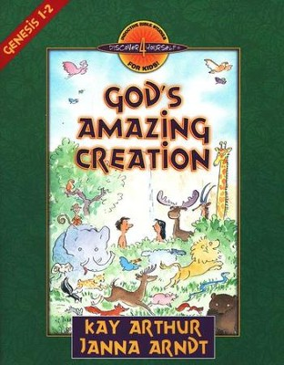Discover 4 Yourself, Children's Bible Study Series: God's Amazing Creation (Genesis Chapters 1 and 2) (used) - Little Green Schoolhouse Books