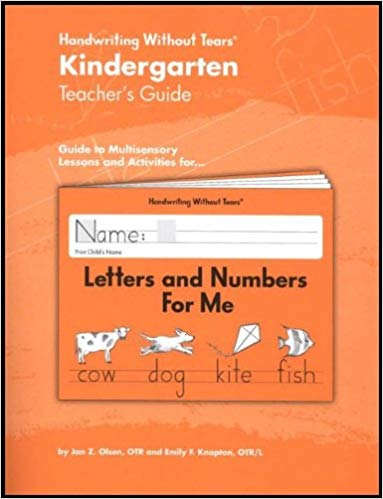Handwriting Without Tears- Kindergarten Teacher's Guide (used) - Little Green Schoolhouse Books