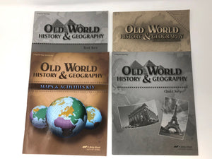 Old World History and Geography (4th Edition) Set of Teacher's Keys- A Beka Books (Used-Like New) - Little Green Schoolhouse Books