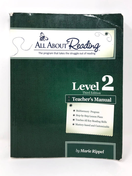 All About Reading Level 2 - Teacher's Manual - Black & white edition ((Used- Good)