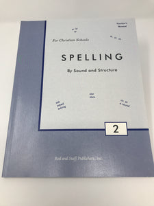 Spelling By Sound and Structure 2 Teacher's Manual (Used - Like New)