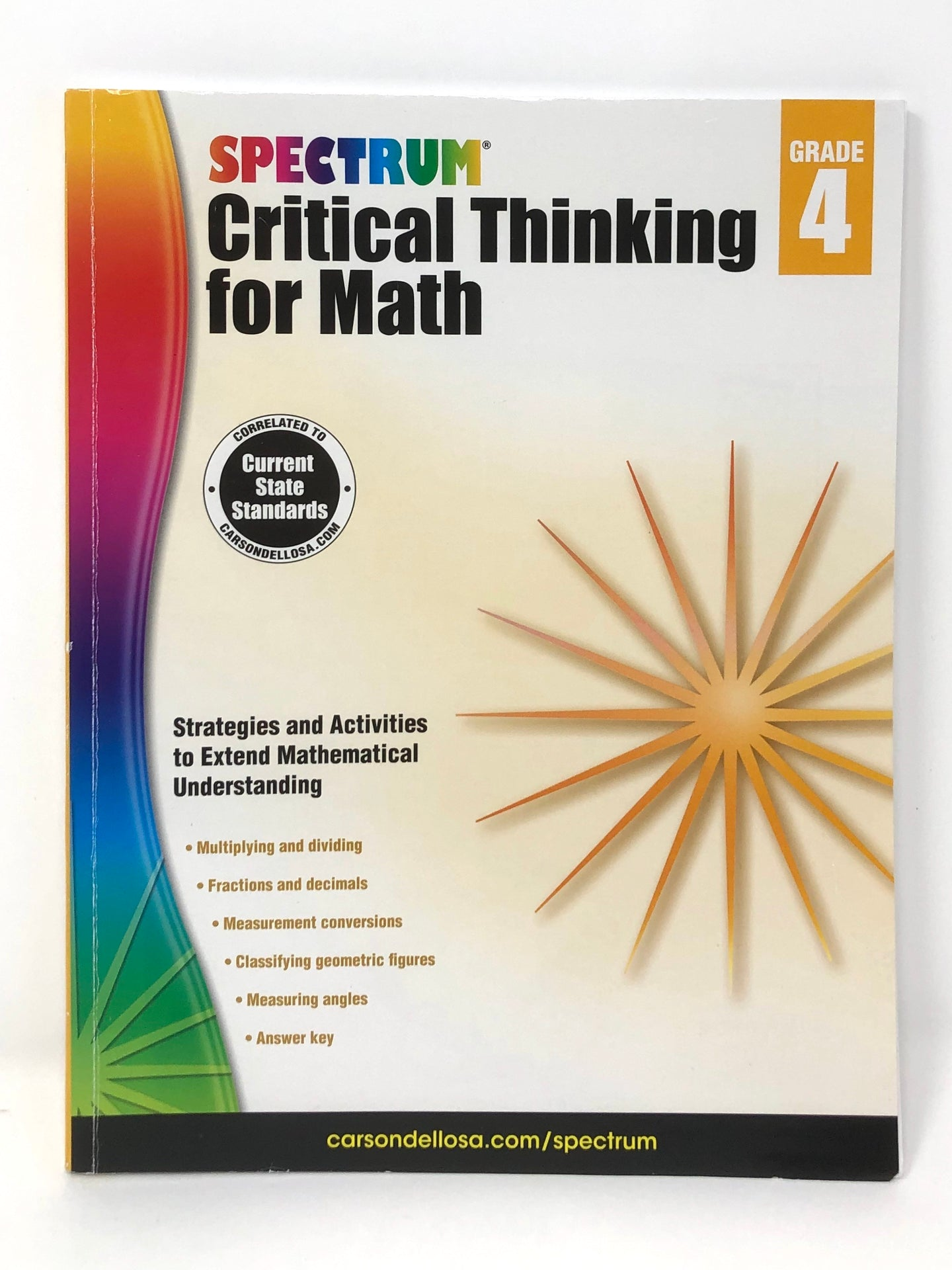 Spectrum Critical Thinking for Math- Grade 4 (Used-Worn/Acceptable) - Little Green Schoolhouse Books