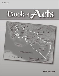 Book of Acts - Tests Key (Abeka) (Used-Like New)