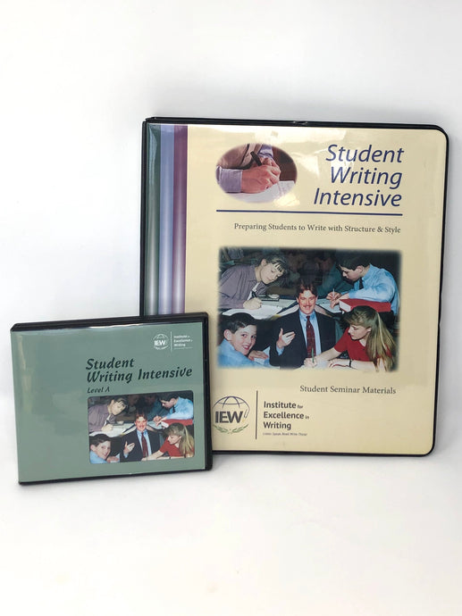 Student Writing Intensive (SWI) Level A - IEW - Student Seminar Materials& DVDs (Used-Good)