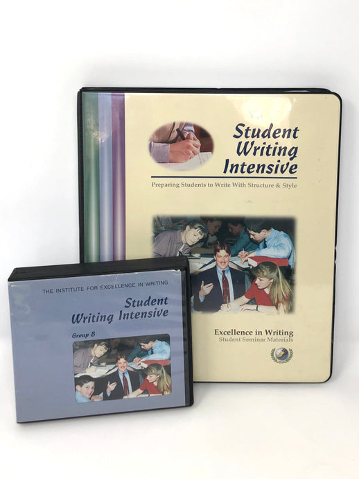 Student Writing Intensive (SWI) Group B - IEW - Student Seminar Materials& DVDs (Used-Good)
