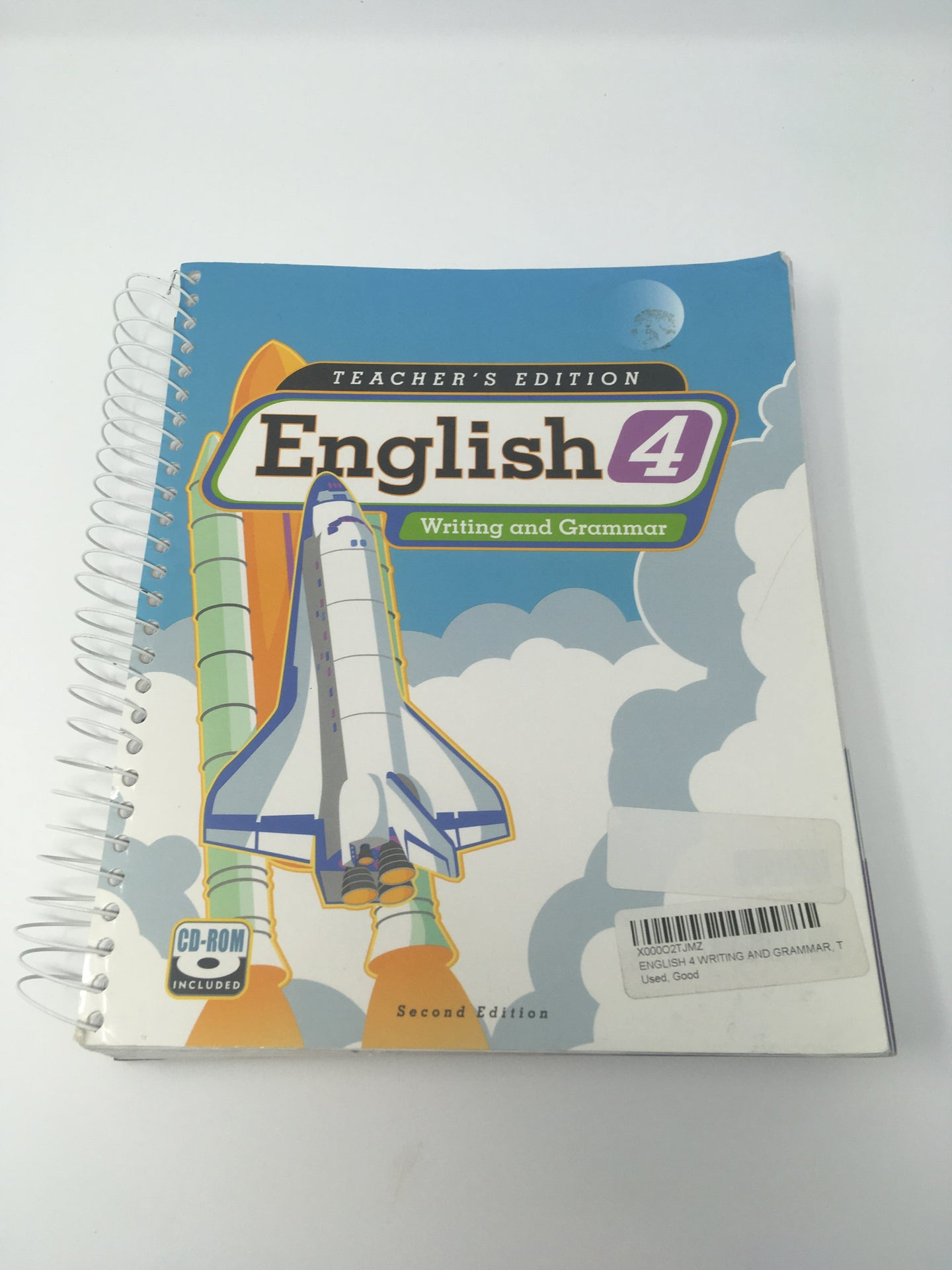 English 4 Teacher's Edition with CD (2nd ed.) - Bob Jones - (Used-Worn/Acceptable) - Little Green Schoolhouse Books