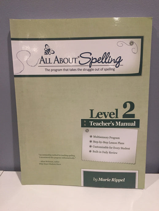 All About Spelling Level 2 Teacher's Manual (Used-Like New)