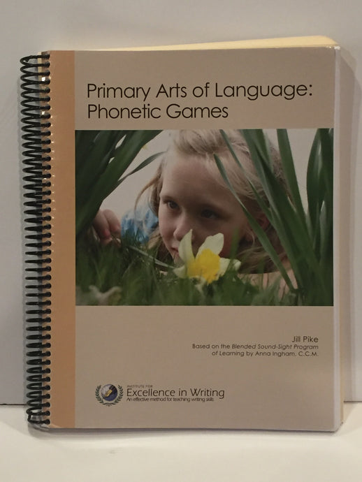 Primary Arts of Language: Phonetic Games IEW (Used- New) - Little Green Schoolhouse Books