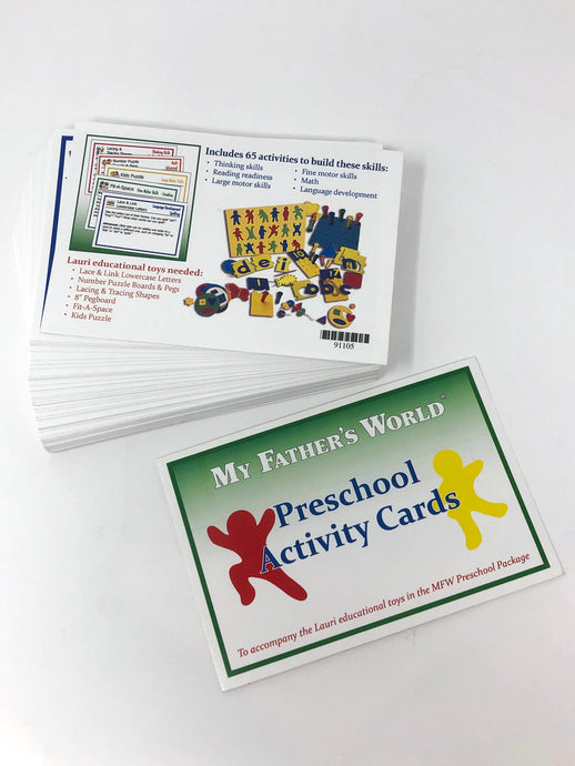My Father's World Preschool Activity Cards (Used-Like New)
