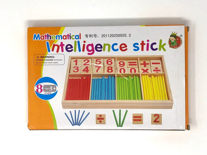 Mathematical Intelligence Stick Set-Counting Rods with Box (Used-Like New) - Little Green Schoolhouse Books