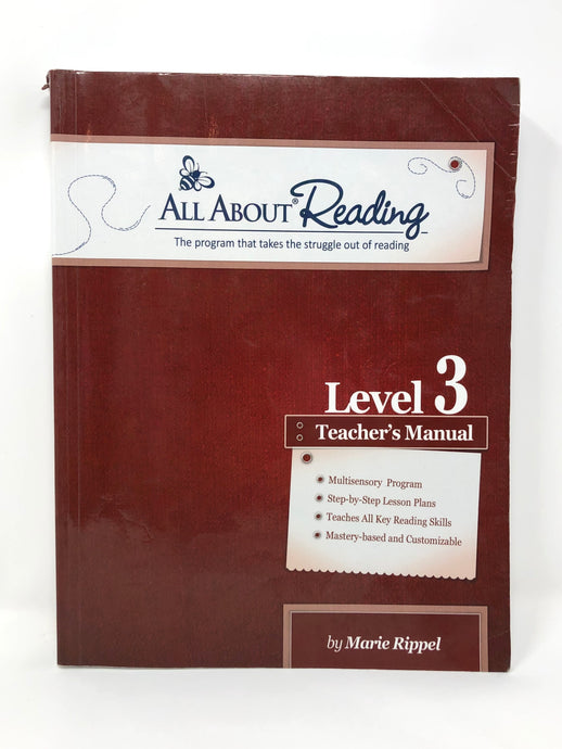 All About Reading Level 3 Teacher's Manual - Black and White Edition (Used-Good)