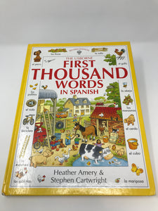 First Thousand Words in Spanish - Usborne (Used - Good) - Little Green Schoolhouse Books