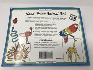 Hand-Print Animal Art (Used - Good) - Little Green Schoolhouse Books