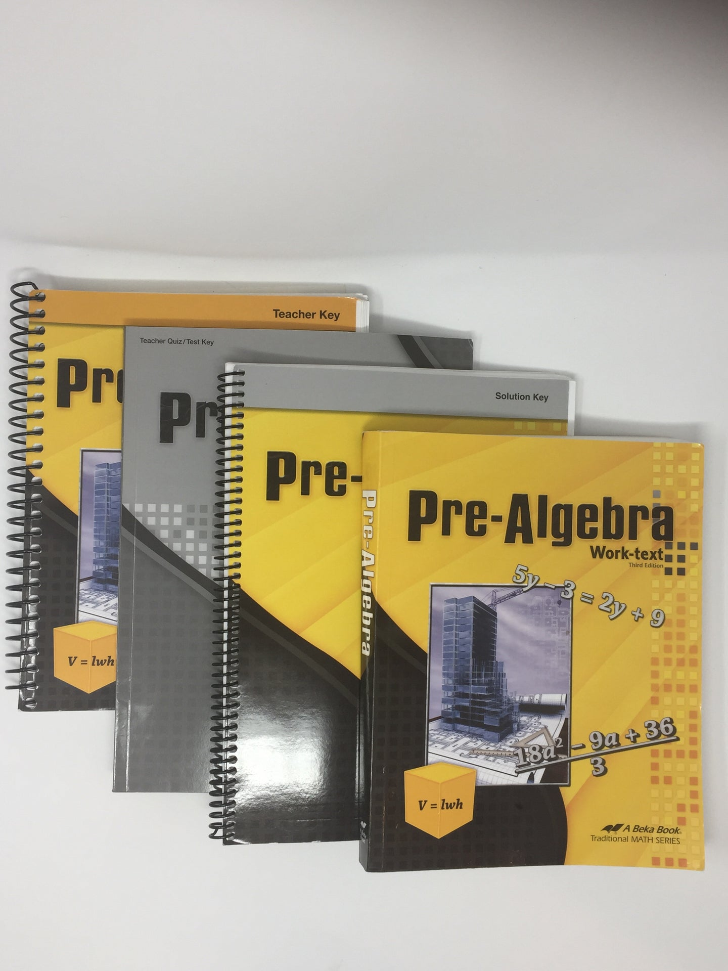 Pre-Algebra Set - Abeka 3rd Edtion (Used—Like New) - Little Green Schoolhouse Books