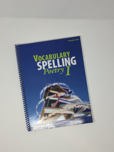 Vocabulary Spelling Poetry 1 -  Teacher Key/ Poetry CD (5th Edition) - Abeka (Used-Good) - Little Green Schoolhouse Books