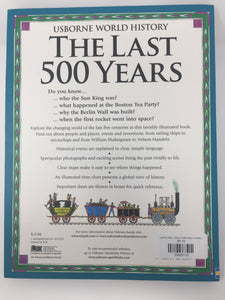 Last 500 Years, Usborne World History (used-like new)