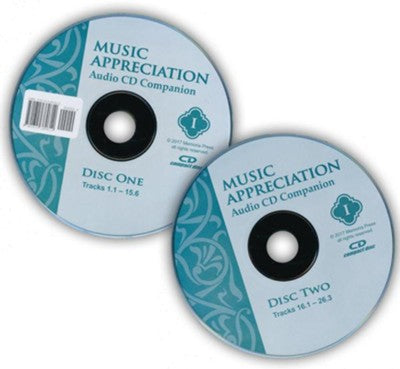 Music Appreciation Book 1 Audio Companion CD- by Patrick Fata (Used-good) - Little Green Schoolhouse Books