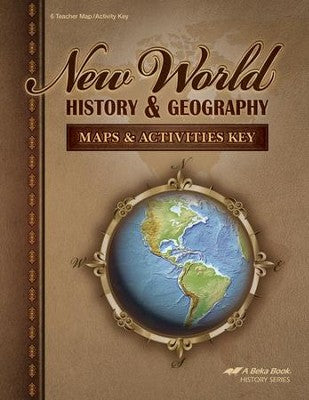 Abeka New World History & Geography Maps & Activities Key (used) - Little Green Schoolhouse Books