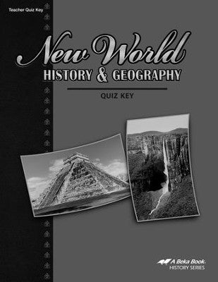 Abeka New World History & Geography Quizzes Key (used) - Little Green Schoolhouse Books