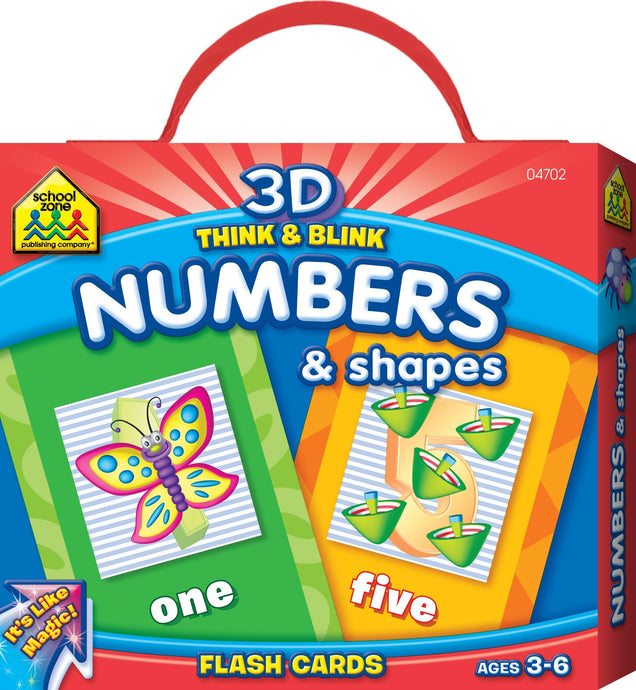 Think and Blink Numbers & Shapes (Used-Good) - Little Green Schoolhouse Books