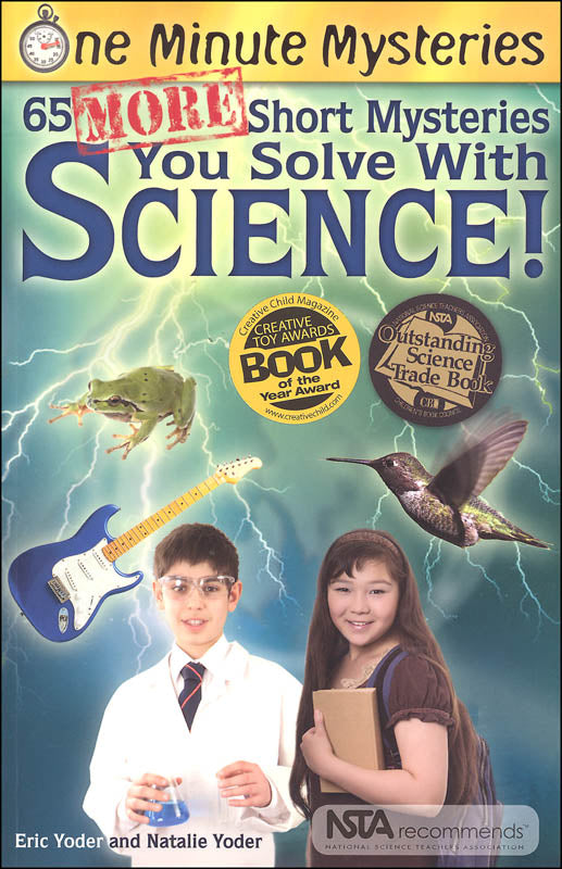 One Minute Mysteries: 65 MORE Short Mysteries You Solve With Science! (used-like new) - Little Green Schoolhouse Books