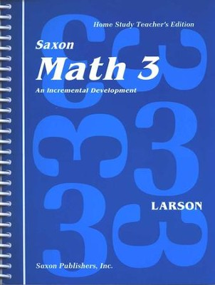 Saxon Math 3, Home Study Teacher's Edition (used-good) - Little Green Schoolhouse Books