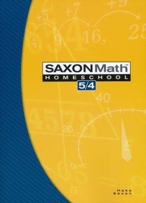 Saxon Math 5/4, 3rd Edition, Student Text (Used-Good) - Little Green Schoolhouse Books
