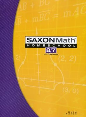 Saxon Math 8/7(Prealgebra), 3rd Edition, Student Text (Used- Worn/Acceptable)