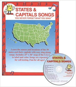 States and Capitals Songs-Audio CD- by Larry Troxel (used) - Little Green Schoolhouse Books