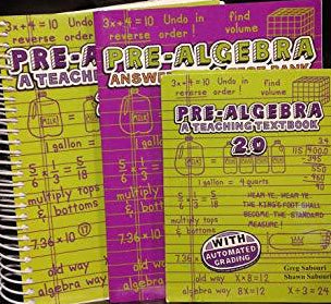 Pre-Algebra 2.0 Teaching Textbook kit (used)