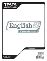 English 2 Tests and Answer Key(2nd Edition) (Used-Like New) - Little Green Schoolhouse Books