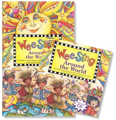Wee Sing Around the World--Book & CD (used) - Little Green Schoolhouse Books