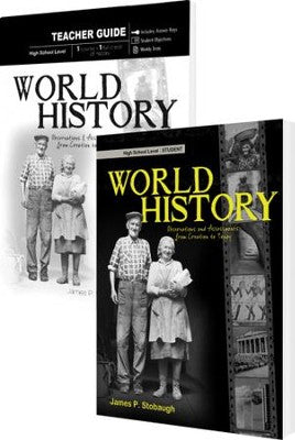 World History - Observations and Assessments from Creation to Today Set- by James P. Stobaugh (used) - Little Green Schoolhouse Books