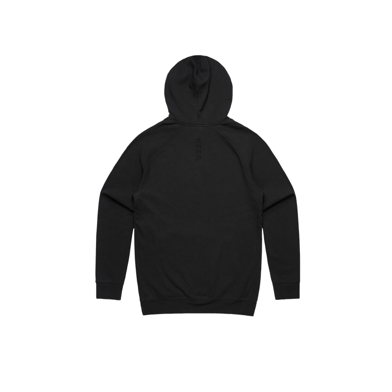 KEEP black hoodie front view