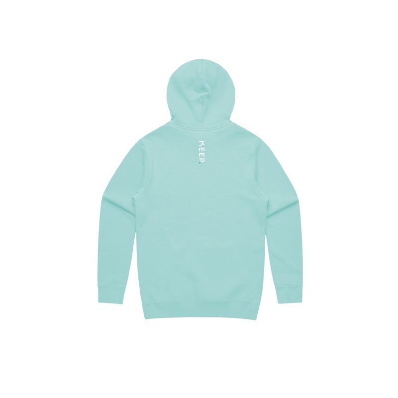KEEP mint hoodie back view
